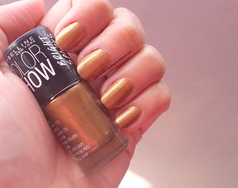 Maybelline Color Show Bright Sparks Nail Polish, Burnished Gold, 707 ...